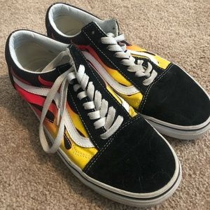 Colored Flame VANS